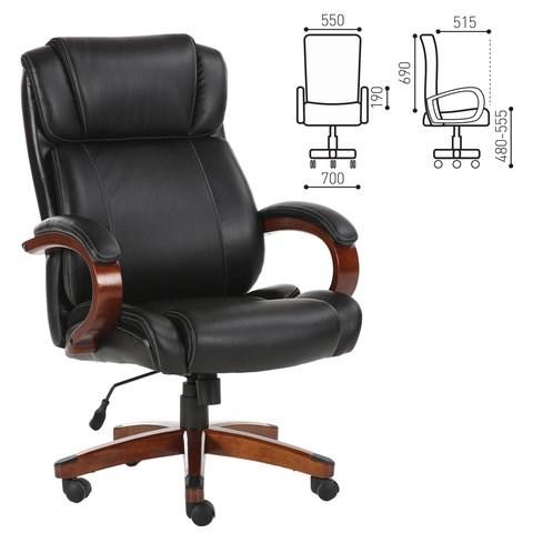 Кресло офисное BRABIX PREMIUM Magnum EX-701, дерево, рециклированная кожа, черное, 531827 - фото 21574
