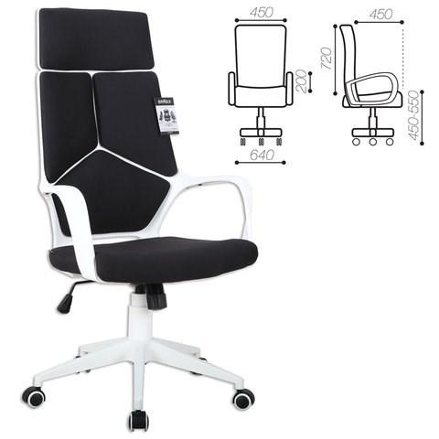 Кресло офисное BRABIX PREMIUM Prime EX-515, пластик белый, ткань, черное, 531812 - фото 21576