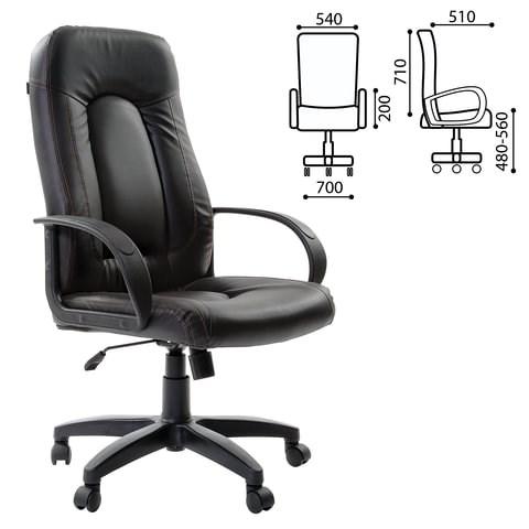 Кресло офисное BRABIX Strike EX-525, экокожа черная, 531382 - фото 21587