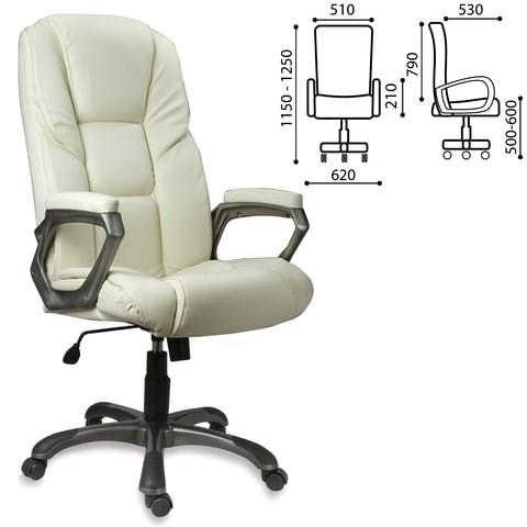 Кресло офисное BRABIX Titan EX-579, экокожа, бежевое, 531399 - фото 21593