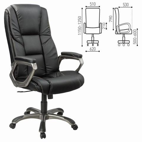 Кресло офисное BRABIX Titan EX-579, экокожа, черное, 531398 - фото 21594