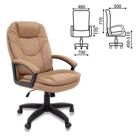Кресло офисное BRABIX Trend EX-568, экокожа, бежевое, 531397 - фото 21595
