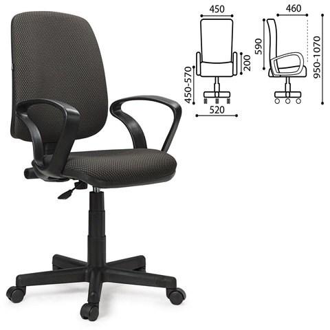 Кресло BRABIX Basic MG-310, с подлокотниками, серое JP-15-1, 531410 - фото 21604