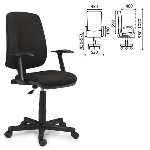 Кресло BRABIX Basic MG-310, с подлокотниками, черное KB-14, 531411 - фото 21608