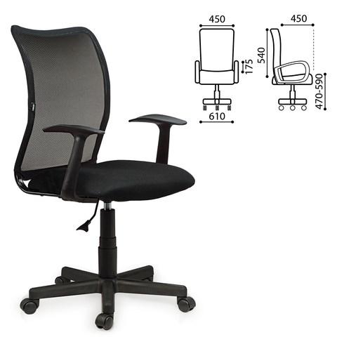 Кресло BRABIX Spring MG-307, с подлокотниками, черное TW, 531406 - фото 21630