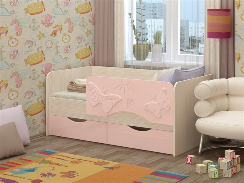 """Детская кровать """"Бабочки 1,6 м"""" 2 ящика - фото 22805"""