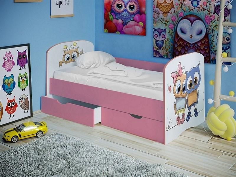 """Детская кровать """"Совята 1,6"""" с бортиком - фото 23185"""