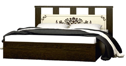 """Кровать 1,6 ЛДСП """"Жасмин"""" - фото 24269"""