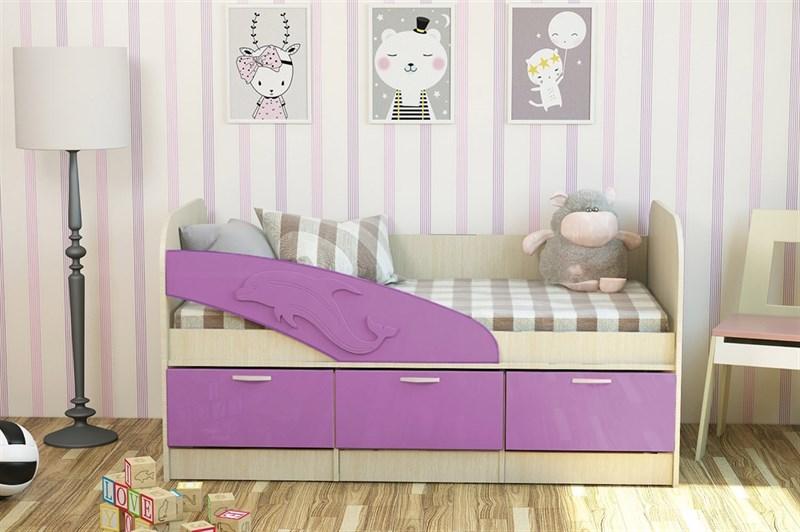 """Детская кровать """"Дельфин"""" 1,6 МДФ - фото 24312"""