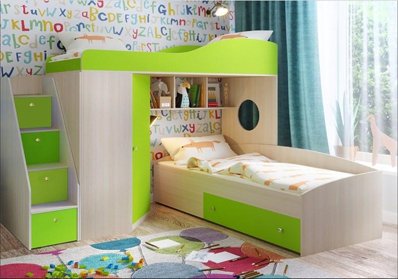 """Кровать чердак  """"Кадет-2"""" с универсальной лестницей - фото 24464"""