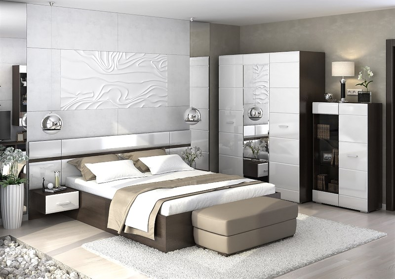 """Спальня """"Вегас"""" комплектация №1 - фото 31908"""