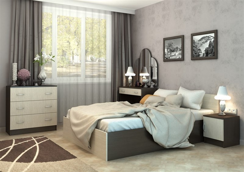 Спальня «Бася» Венге/Дуб белфорд комплектация №2