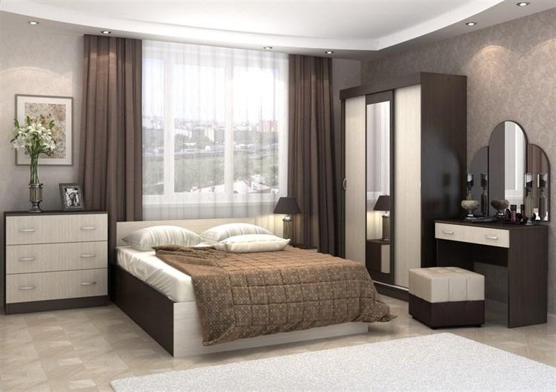 Спальня «Бася» Венге/Дуб белфорд комплектация №3