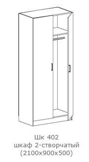 """Шкаф """"Фиеста"""" ШК 402 (схема)"""