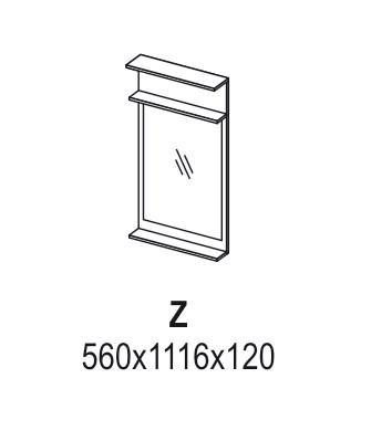 Зеркало «Ника» Z (схема)