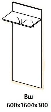 Вешалка «Визит» ВШ (схема)