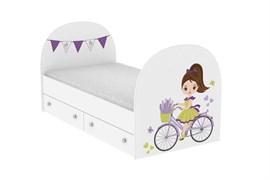 """Детская кровать """"Велосипедистка"""""""