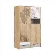 """Шкаф для одежды """"Дублин Стоун"""" модуль 10"""