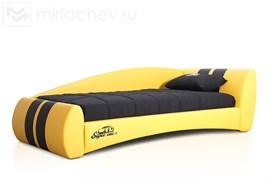 """Кровать """"Формула""""  Эко стайл 13+Эко стайл 04 с вышивкой Super Car L"""