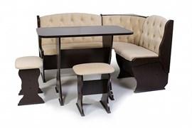 """Набор мебели для кухни """"Орхидея Люкс"""" венге/флок бежевый"""