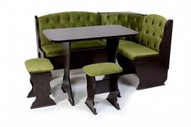 """Набор мебели для кухни """"Орхидея Люкс"""" венге/флок грин"""