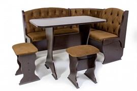 """Набор мебели для кухни """"Орхидея Люкс"""" венге/флок мокко"""
