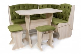 """Набор мебели для кухни """"Орхидея Люкс"""" ясень шимо светлый/флок грин"""