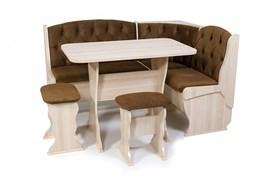 """Набор мебели для кухни """"Орхидея Люкс"""" ясень шимо светлый/флок мокко"""