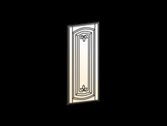 """""""Дверь (Декор) L297 Шкаф навесной (эмаль) """" Бергамо"""""""