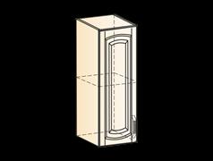 """""""Шкаф навесной L200 H720 (1 дв. гл.) (эмаль) """"Бергамо"""""""