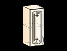 """""""Шкаф навесной L300 H720 (1 дв. гл.) (эмаль) """" Бергамо"""""""