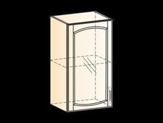 """Шкаф навесной L400 H720 (1 дв. рам.) (эмаль) ""Бергамо"""