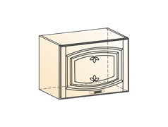 """""""Шкаф навесной L500 H360 (1 дв. гл.) (эмаль) """"Бергамо"""""""