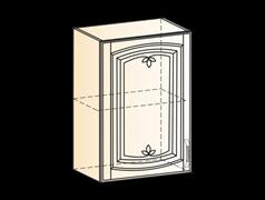 """Шкаф навесной L500 H720 (1 дв. гл.) (эмаль) """" Бергамо"""""""