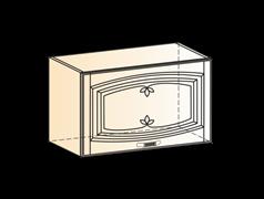 """Шкаф навесной L600 H360 (1 дв. гл.) (эмаль) с фрезкой """"Бергамо"""""""