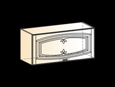 """Шкаф навесной L800 H360 (1 дв. гл.) (эмаль) с фреской """"Бергамо"""""""