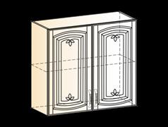 """Шкаф навесной L800 H720 (2 дв. гл.) """"Венеция"""""""
