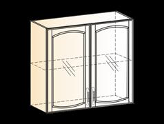 """Шкаф навесной L800 H720 (2 дв. рам.) """"Венеция"""""""