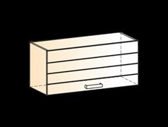 """Шкаф навесной L800 Н360 (1 дв. гл.) """"Виктория"""""""
