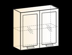 """Шкаф навесной L800 Н720 (2 дв. рам.) """"Виктория"""""""