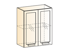 """Шкаф навесной L600 Н720 (2 дв. рам.) """"Яна"""""""