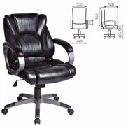 Кресло офисное BRABIX Eldorado EX-504, экокожа, черное, 530874