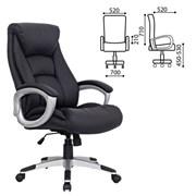 Кресло офисное BRABIX Grand EX-500, натур. кожа, черное, 530861