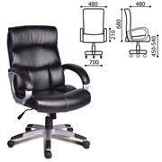 Кресло офисное BRABIX Impulse EX-505, экокожа, черное, 530876