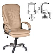 Кресло офисное BRABIX Omega EX-589, экокожа, песочное, 531402