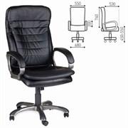 Кресло офисное BRABIX Omega EX-589, экокожа, черное, 531400