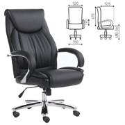 Кресло офисное BRABIX PREMIUM Advance EX-575, хром, экокожа, черное, 531825