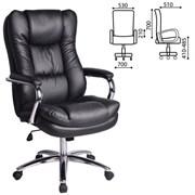 Кресло офисное BRABIX PREMIUM Amadeus EX-507, экокожа, хром, черное, 530879