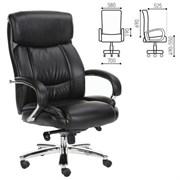 Кресло офисное BRABIX PREMIUM Direct EX-580, хром, рециклированная кожа, черное, 531824