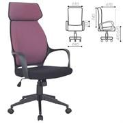 Кресло офисное BRABIX PREMIUM Galaxy EX-519, ткань, черное/терракотовое, 531570